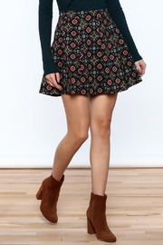 Shoptiques Product: Pattern Me Fall Skirt - Front cropped