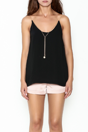 Pinkyotto Pearl Chain Gold Cord Cami - Front full body