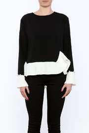 Shoptiques Product: Pearls And Pleats Cuff Top - Side cropped