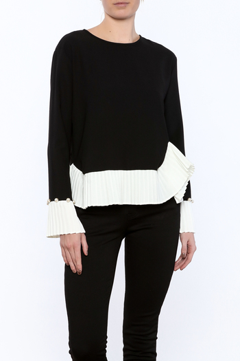 Shoptiques Product: Pearls And Pleats Cuff Top - main