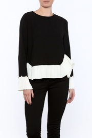 Shoptiques Product: Pearls And Pleats Cuff Top - Front cropped