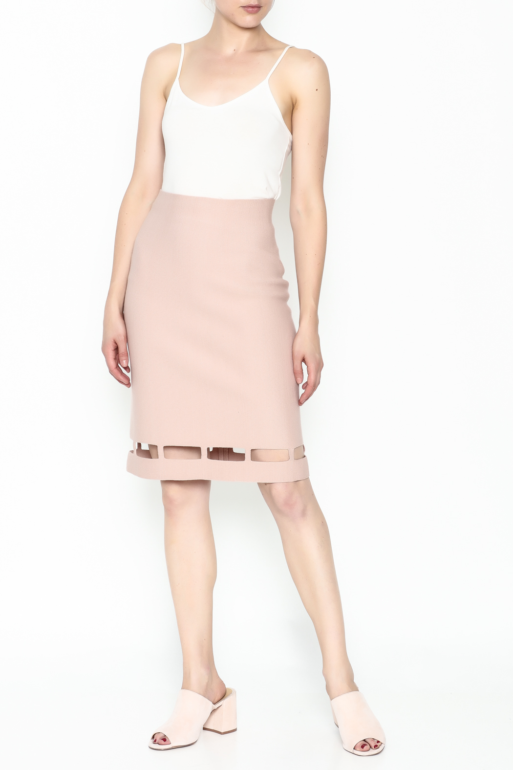 Pinkyotto Pencil Knit Skirt - Side Cropped Image