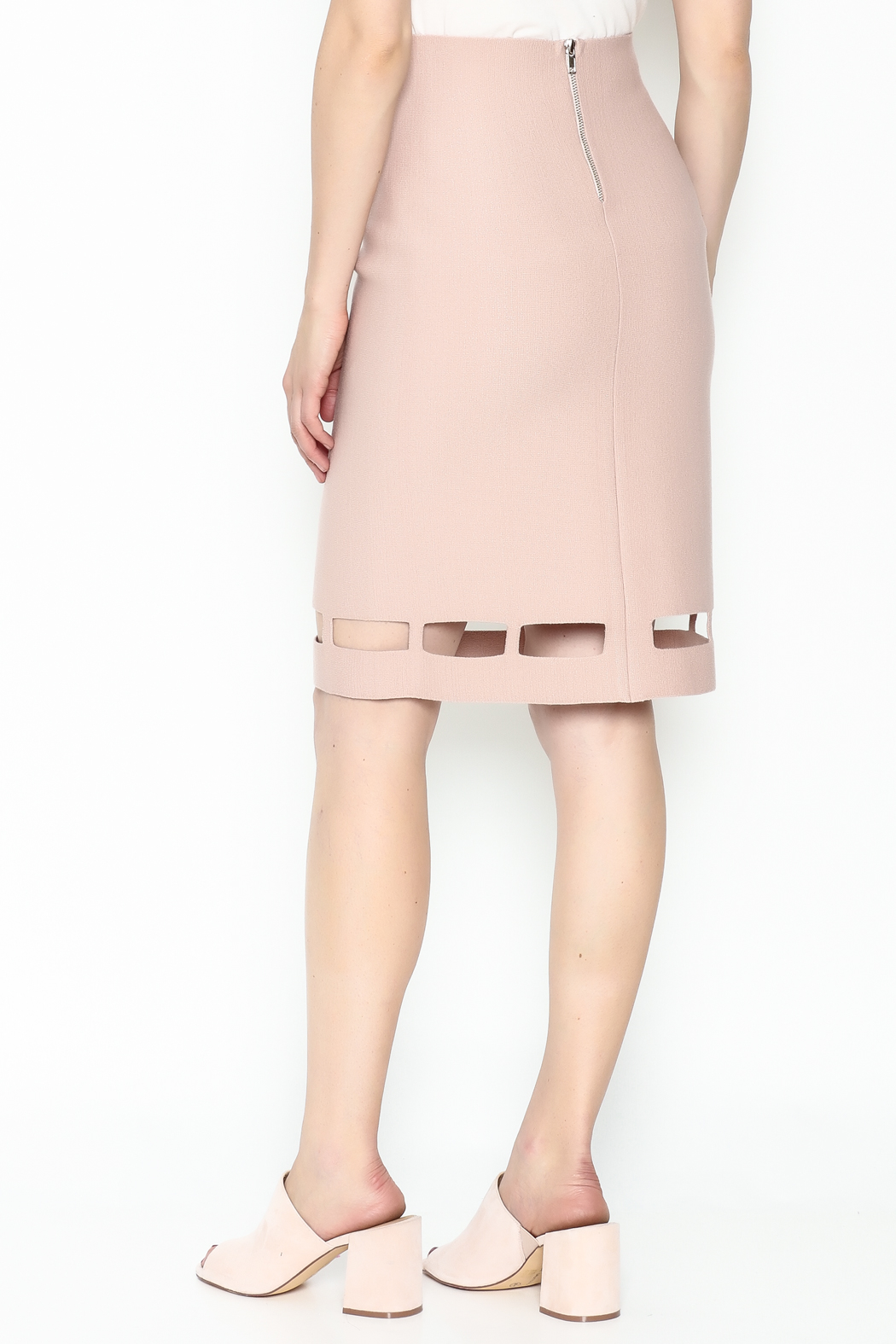 Pinkyotto Pencil Knit Skirt - Back Cropped Image
