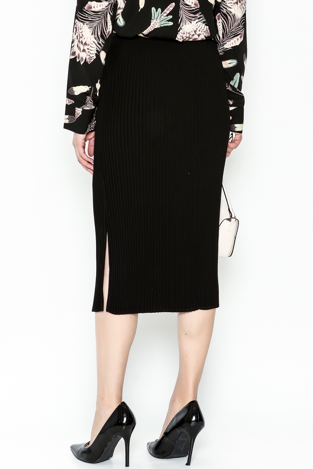 Pinkyotto Pencil Skirt - Back Cropped Image