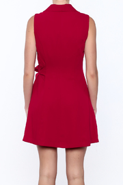Shoptiques Product: Pleated Fall Wrap Dress - Back cropped