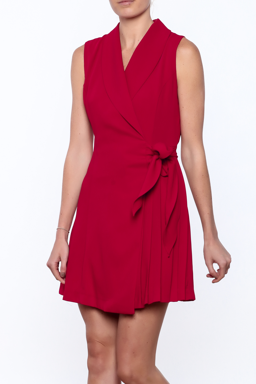 Pinkyotto Pleated Fall Wrap Dress - Main Image