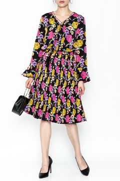 Pinkyotto Pleated Floral Dress - Product List Image