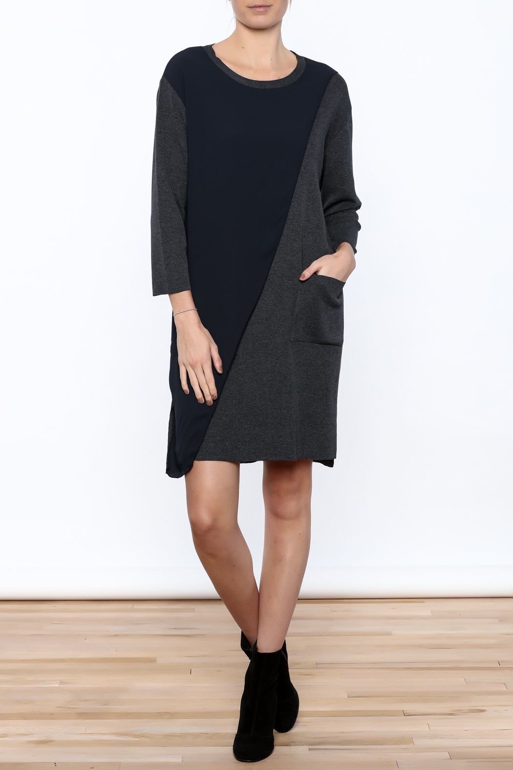 Pinkyotto Pocket Wrap Dress - Front Full Image