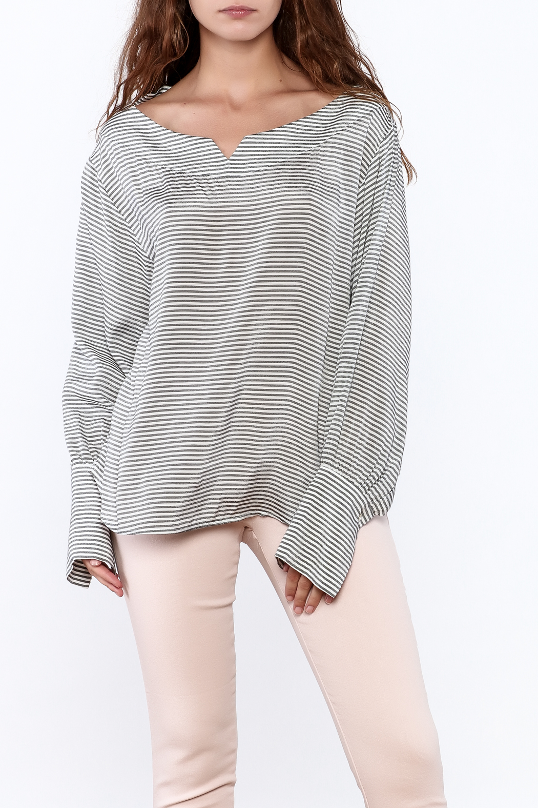 Pinkyotto Preppy Striped Pullover Top - Front Cropped Image