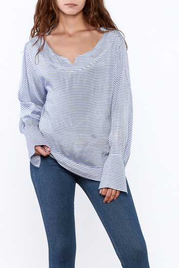 Pinkyotto Preppy Striped Pullover Top - Main Image