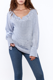 Pinkyotto Preppy Striped Pullover Top - Front cropped