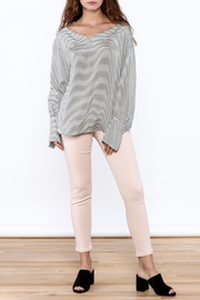 Pinkyotto Preppy Striped Pullover Top - Side cropped