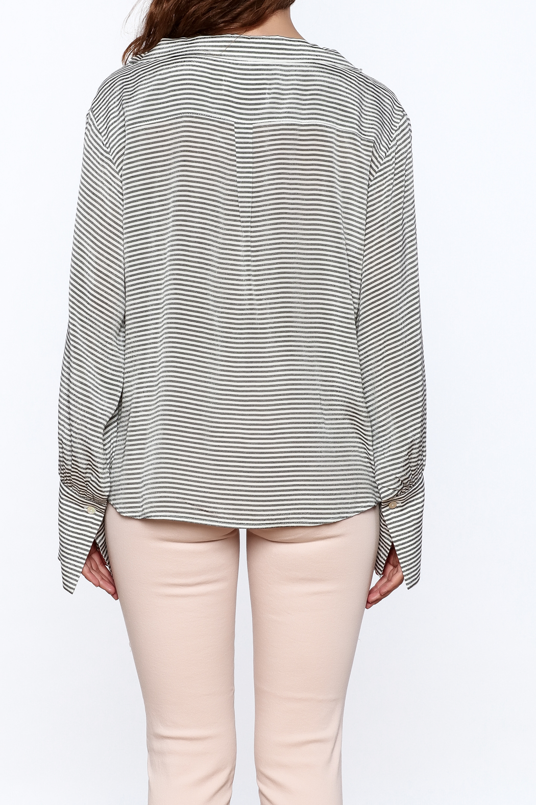 Pinkyotto Preppy Striped Pullover Top - Back Cropped Image