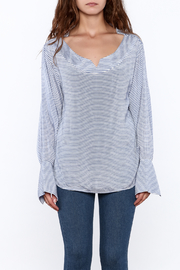 Pinkyotto Preppy Striped Pullover Top - Front full body