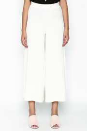 Pinkyotto Ribbed Knit Palazzo Pants - Front full body