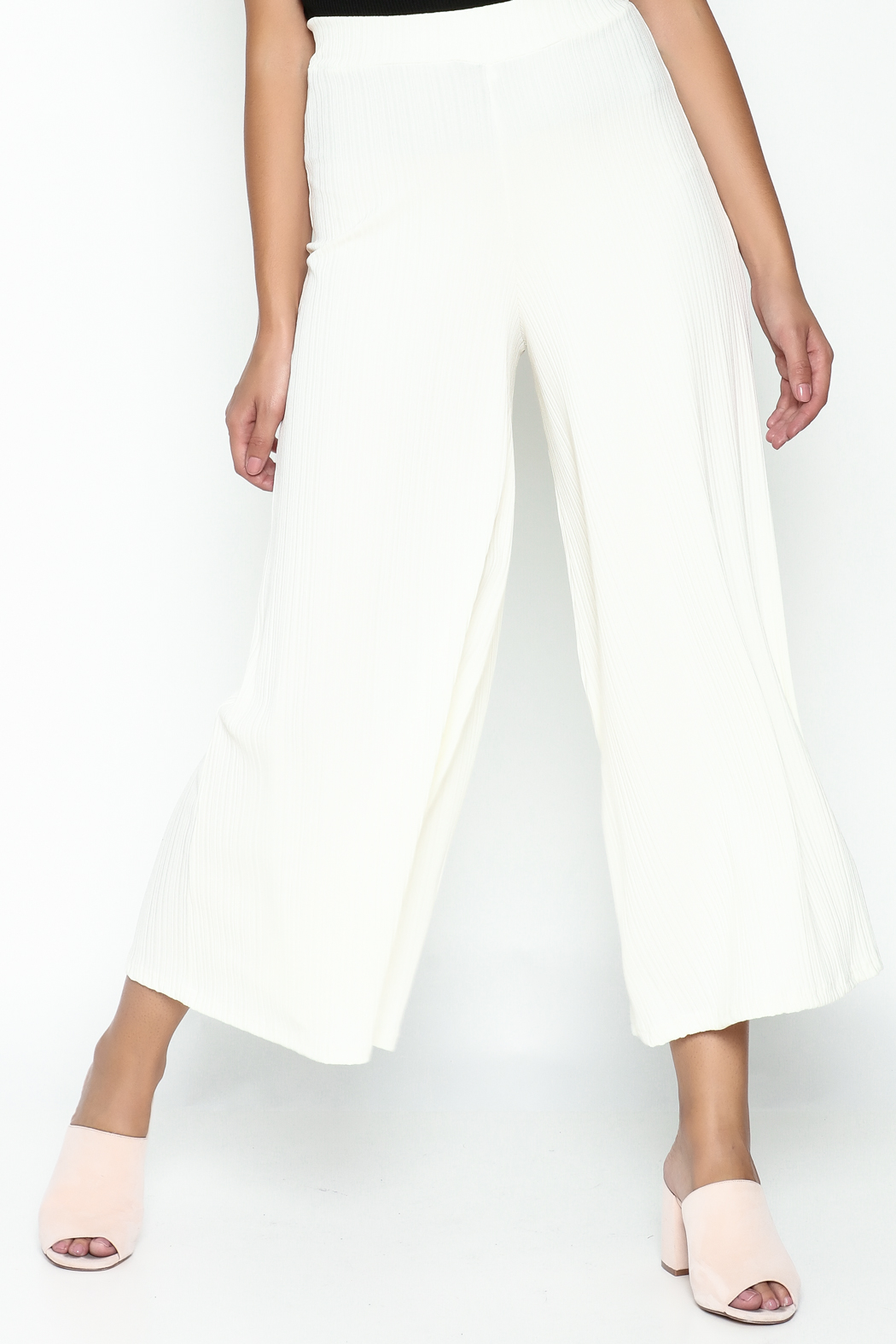 Pinkyotto Ribbed Knit Palazzo Pants - Main Image