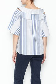 Pinkyotto Striped Ruffle Top - Back cropped