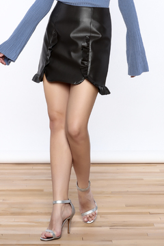 Shoptiques Product: Black Faux Leather Skirt