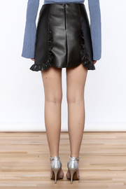 Pinkyotto Black Faux Leather Skirt - Back cropped