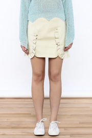 Pinkyotto Beige Faux Leather Skirt - Side cropped