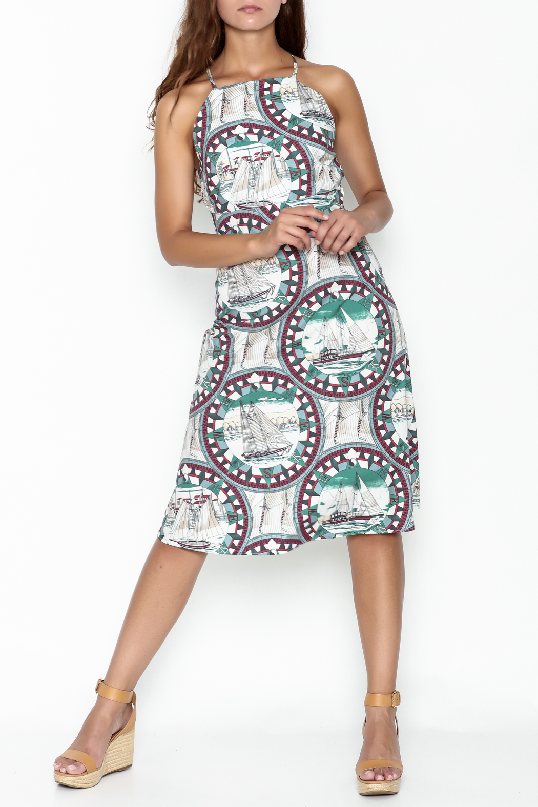 Pinkyotto Sailing Compass Tie Dress - Main Image