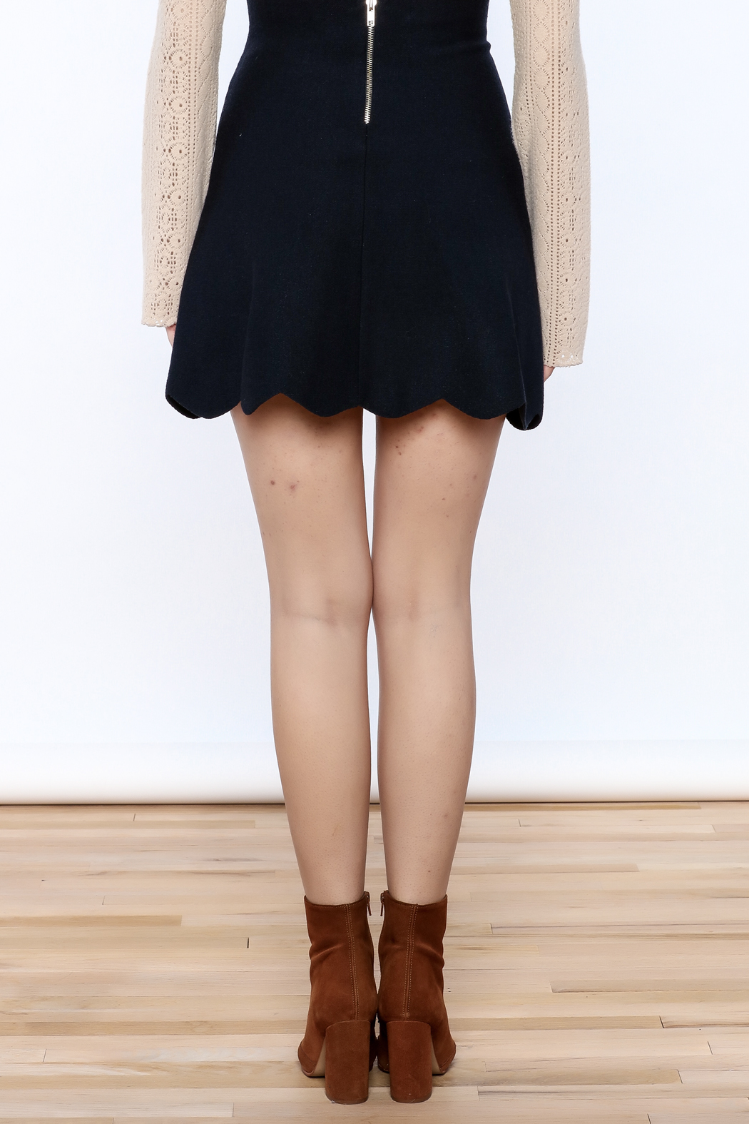 Pinkyotto Scalloped Edge Pearly Skirt - Back Cropped Image