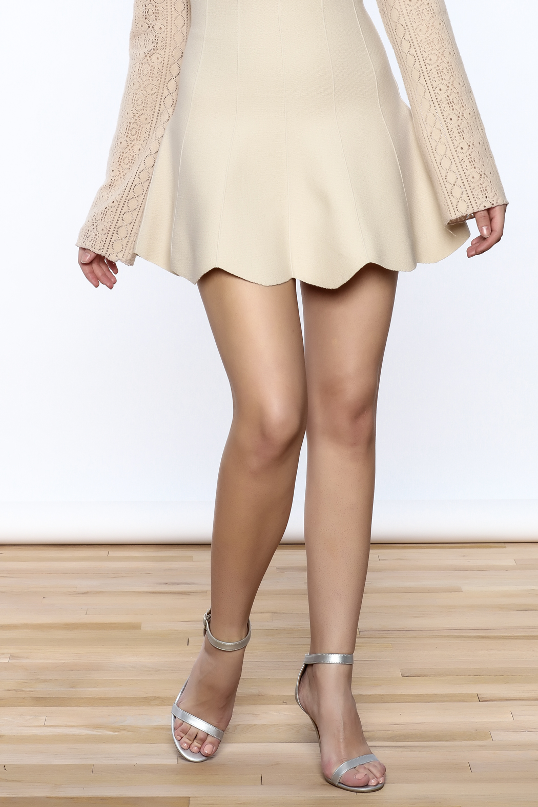 Pinkyotto Scalloped Edge Short Skirt - Front Cropped Image