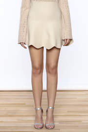 Shoptiques Product: Scalloped Edge Short Skirt - Side cropped