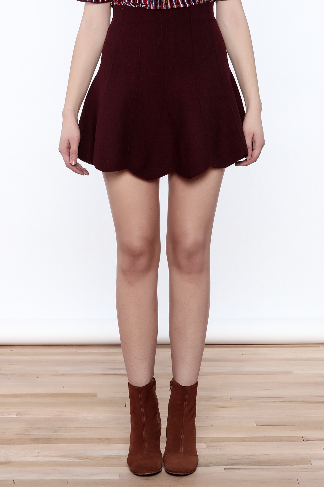 Pinkyotto Scalloped Edge Short Skirt - Side Cropped Image