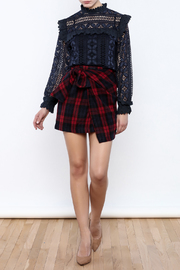 Shoptiques Product: School Days Wrap Tie Skirt - Front full body