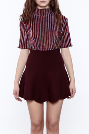 Shoptiques Product: Seeing Striped Velvet Top - Side cropped
