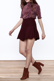 Shoptiques Product: Seeing Striped Velvet Top - Front full body