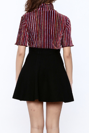 Shoptiques Product: Seeing Striped Velvet Top - Back cropped