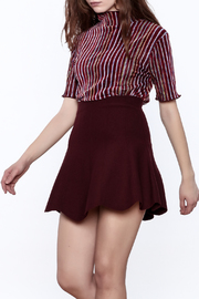 Shoptiques Product: Seeing Striped Velvet Top - Front cropped