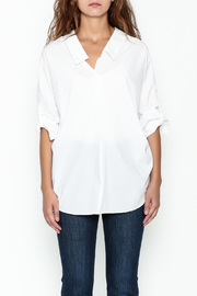 Pinkyotto Johnny Collared Top - Front full body