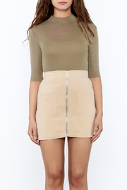 Pinkyotto Olive Fitted Top - Front full body