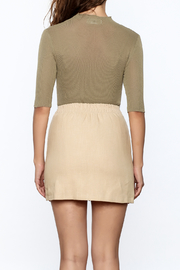 Pinkyotto Olive Fitted Top - Back cropped