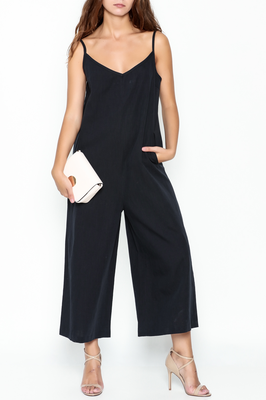 Pinkyotto Strappy Linen Jumpsuit - Main Image