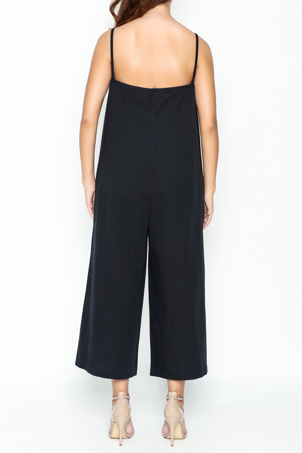 Pinkyotto Strappy Linen Jumpsuit - Back Cropped Image