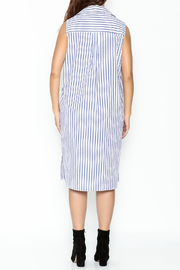 Pinkyotto Striped Boyfriend Shirt Dress - Back cropped