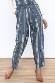 Pinkyotto Striped Wide Leg Pants - Front cropped