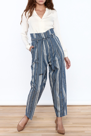 Pinkyotto Striped Wide Leg Pants - Side cropped
