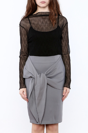 Pinkyotto Black Sheer Top - Side cropped