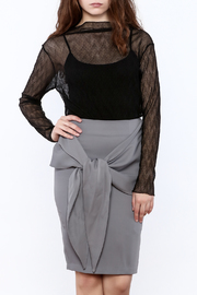 Pinkyotto Black Sheer Top - Front cropped