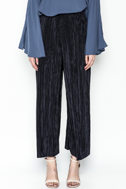 Pinkyotto Textured Wide Leg Pants - Front full body