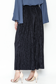 Pinkyotto Textured Wide Leg Pants - Back cropped