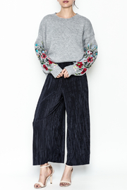 Pinkyotto Textured Wide Leg Pants - Side cropped