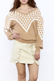 Pinkyotto Geo Print Sweater - Front cropped