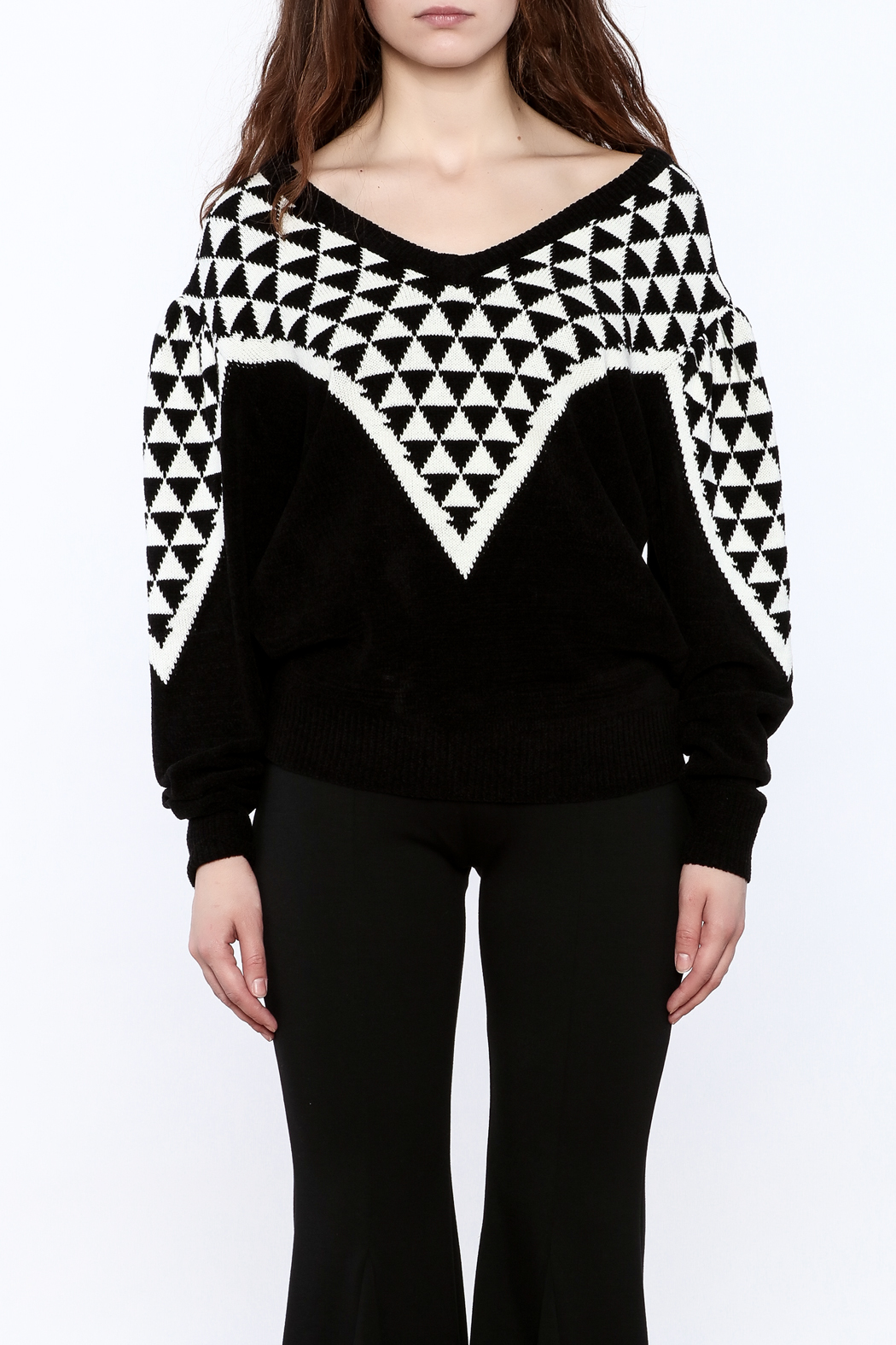 Pinkyotto Geo Print Sweater - Side Cropped Image