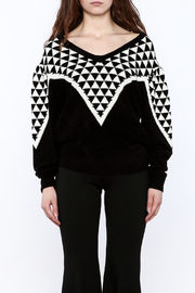 Pinkyotto Geo Print Sweater - Side cropped